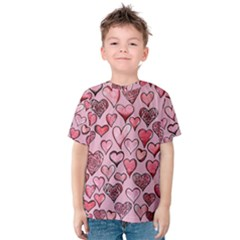 Artistic Valentine Hearts Kids  Cotton Tee by BubbSnugg