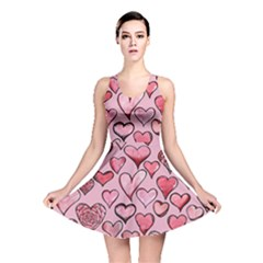 Artistic Valentine Hearts Reversible Skater Dress by BubbSnugg