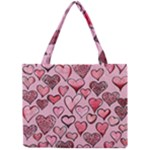Artistic Valentine Hearts Mini Tote Bag