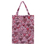 Artistic Valentine Hearts Classic Tote Bag