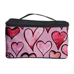 Artistic Valentine Hearts Cosmetic Storage Case by BubbSnugg