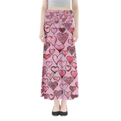 Artistic Valentine Hearts Maxi Skirts by BubbSnugg