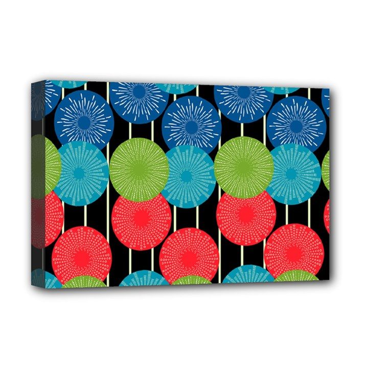 Vibrant Retro Pattern Deluxe Canvas 18  x 12