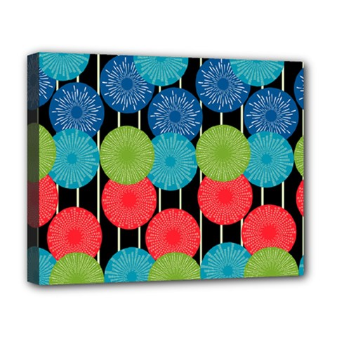 Vibrant Retro Pattern Deluxe Canvas 20  X 16   by DanaeStudio