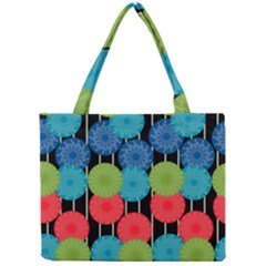 Vibrant Retro Pattern Mini Tote Bag by DanaeStudio