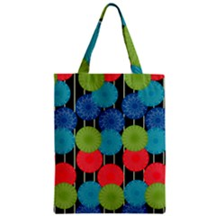 Vibrant Retro Pattern Zipper Classic Tote Bag by DanaeStudio