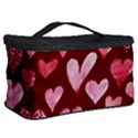 Watercolor Valentine s Day Hearts Cosmetic Storage Case View2