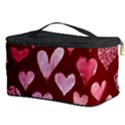 Watercolor Valentine s Day Hearts Cosmetic Storage Case View3