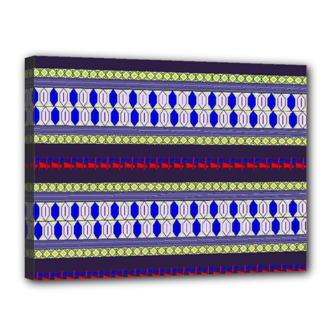 Colorful Retro Geometric Pattern Canvas 16  X 12  by DanaeStudio