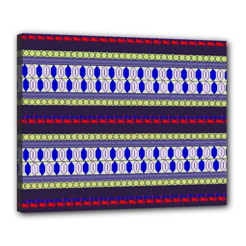 Colorful Retro Geometric Pattern Canvas 20  X 16