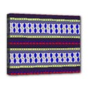 Colorful Retro Geometric Pattern Deluxe Canvas 20  x 16   View1