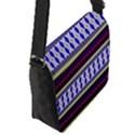 Colorful Retro Geometric Pattern Flap Messenger Bag (S) View2