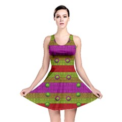 A Wonderful Rainbow And Stars Reversible Skater Dress