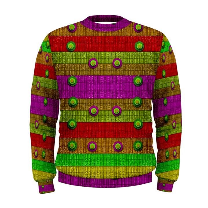 A Wonderful Rainbow And Stars Men s Sweatshirt