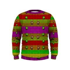 A Wonderful Rainbow And Stars Kids  Sweatshirt