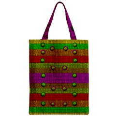 A Wonderful Rainbow And Stars Zipper Classic Tote Bag