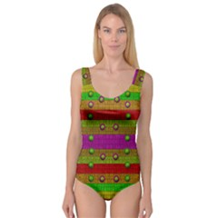 A Wonderful Rainbow And Stars Princess Tank Leotard