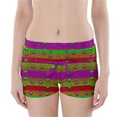 A Wonderful Rainbow And Stars Boyleg Bikini Wrap Bottoms