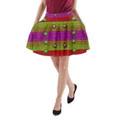 A Wonderful Rainbow And Stars A-Line Pocket Skirt