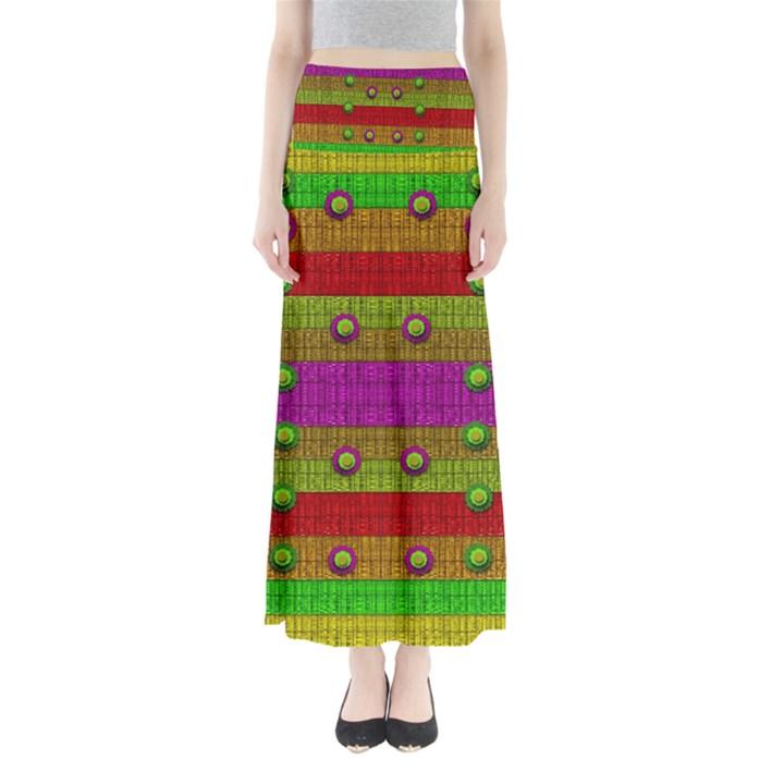 A Wonderful Rainbow And Stars Maxi Skirts