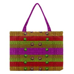A Wonderful Rainbow And Stars Medium Tote Bag by pepitasart