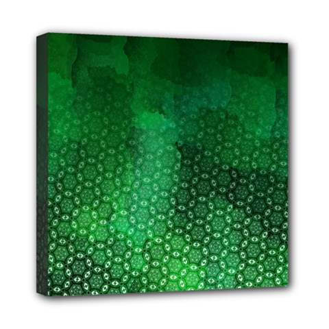Ombre Green Abstract Forest Mini Canvas 8  X 8
