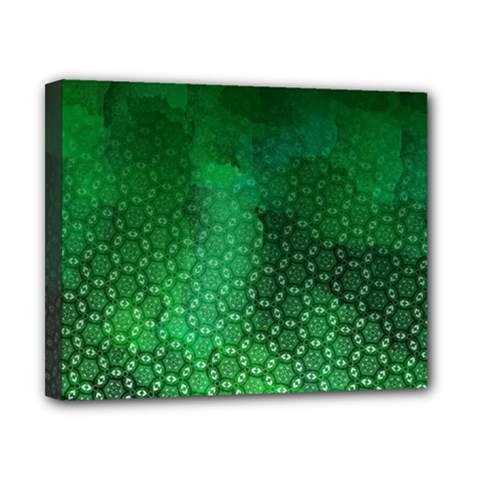 Ombre Green Abstract Forest Canvas 10  X 8  by DanaeStudio