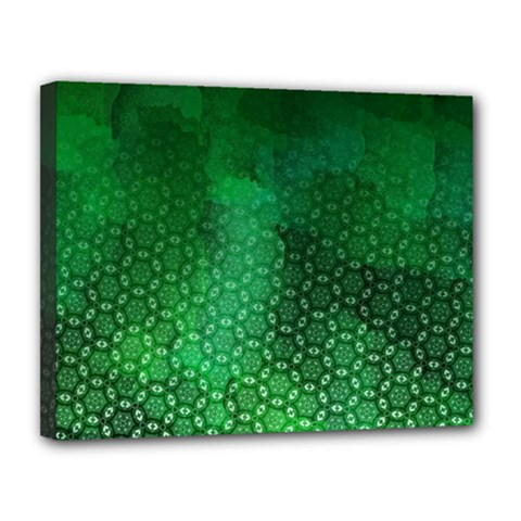 Ombre Green Abstract Forest Canvas 14  X 11  by DanaeStudio