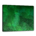 Ombre Green Abstract Forest Canvas 20  x 16  View1