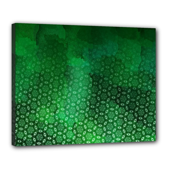 Ombre Green Abstract Forest Canvas 20  x 16