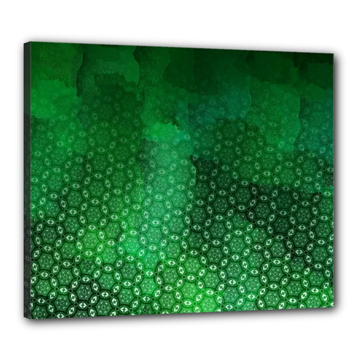 Ombre Green Abstract Forest Canvas 24  x 20
