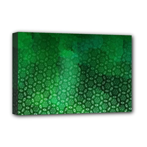 Ombre Green Abstract Forest Deluxe Canvas 18  X 12