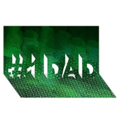 Ombre Green Abstract Forest #1 Dad 3d Greeting Card (8x4) by DanaeStudio