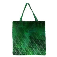 Ombre Green Abstract Forest Grocery Tote Bag
