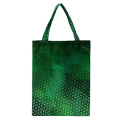 Ombre Green Abstract Forest Classic Tote Bag by DanaeStudio