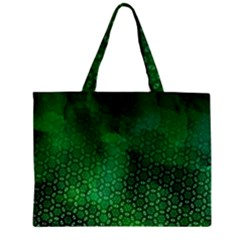 Ombre Green Abstract Forest Zipper Mini Tote Bag