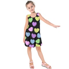 Valentine s Hearts Kids  Sleeveless Dress by BubbSnugg