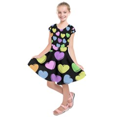 Valentine s Hearts Kids  Short Sleeve Dress