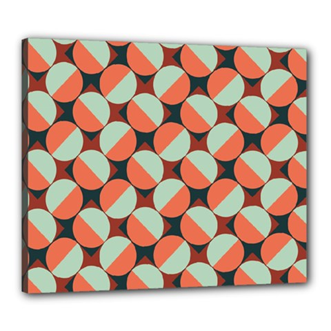Modernist Geometric Tiles Canvas 24  X 20