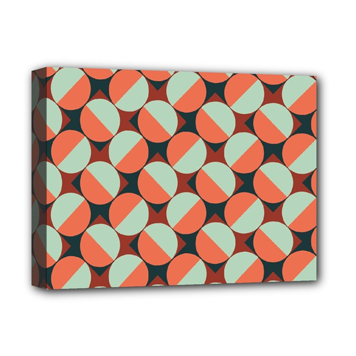 Modernist Geometric Tiles Deluxe Canvas 16  x 12