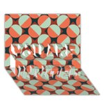 Modernist Geometric Tiles YOU ARE INVITED 3D Greeting Card (7x5)