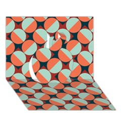 Modernist Geometric Tiles Apple 3d Greeting Card (7x5) by DanaeStudio
