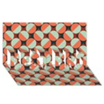 Modernist Geometric Tiles BEST BRO 3D Greeting Card (8x4)