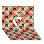 Modernist Geometric Tiles Ribbon 3D Greeting Card (7x5)
