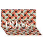 Modernist Geometric Tiles HUGS 3D Greeting Card (8x4)