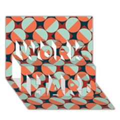 Modernist Geometric Tiles Work Hard 3d Greeting Card (7x5) by DanaeStudio