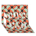 Modernist Geometric Tiles THANK YOU 3D Greeting Card (7x5)