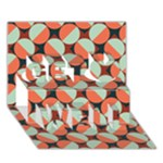 Modernist Geometric Tiles Get Well 3D Greeting Card (7x5)
