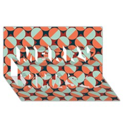 Modernist Geometric Tiles Merry Xmas 3d Greeting Card (8x4) by DanaeStudio