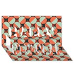 Modernist Geometric Tiles Happy New Year 3D Greeting Card (8x4)